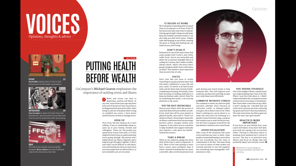 Michael Gearon in Net magazine, a UX and web publication